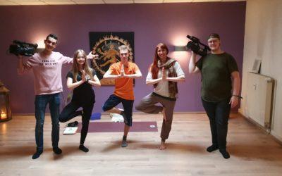 #Timunterwegs vom Offenen Kanal Magdeburg im Yoga-Studio