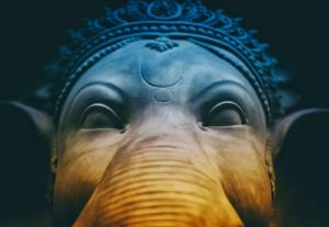 Ganesha und der Mond