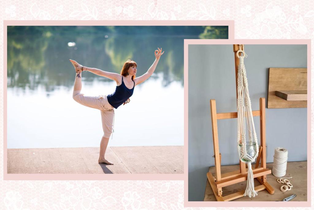 Yoga und Makramee